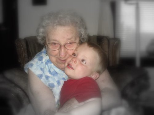 My Grandmother and Little E.  She loved him a lot.  RIP Nan.